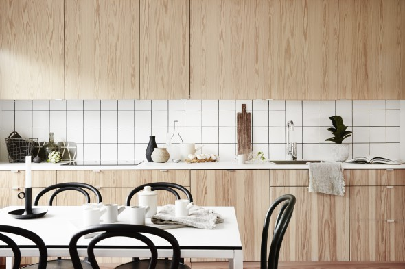 Wood in the kitchen - via Coco Lapine Design
