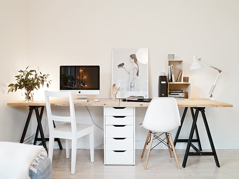 Two seat workspace coco lapine designcoco lapine design for Bureau cocooning