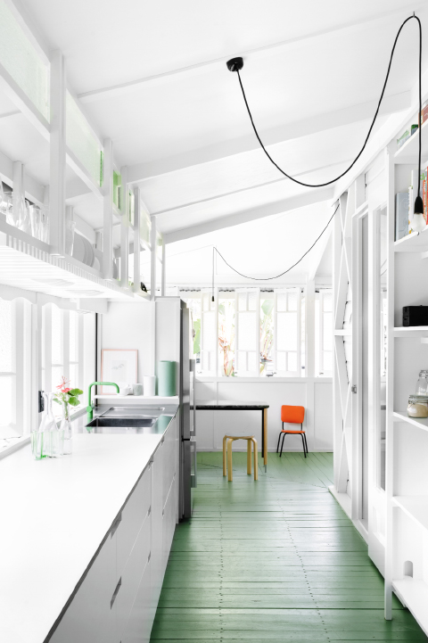 Green Floor green kitchen floor - coco lapine designcoco lapine design