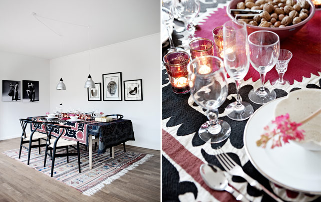 Christmas with patterns and prints - via Coco Lapine Design