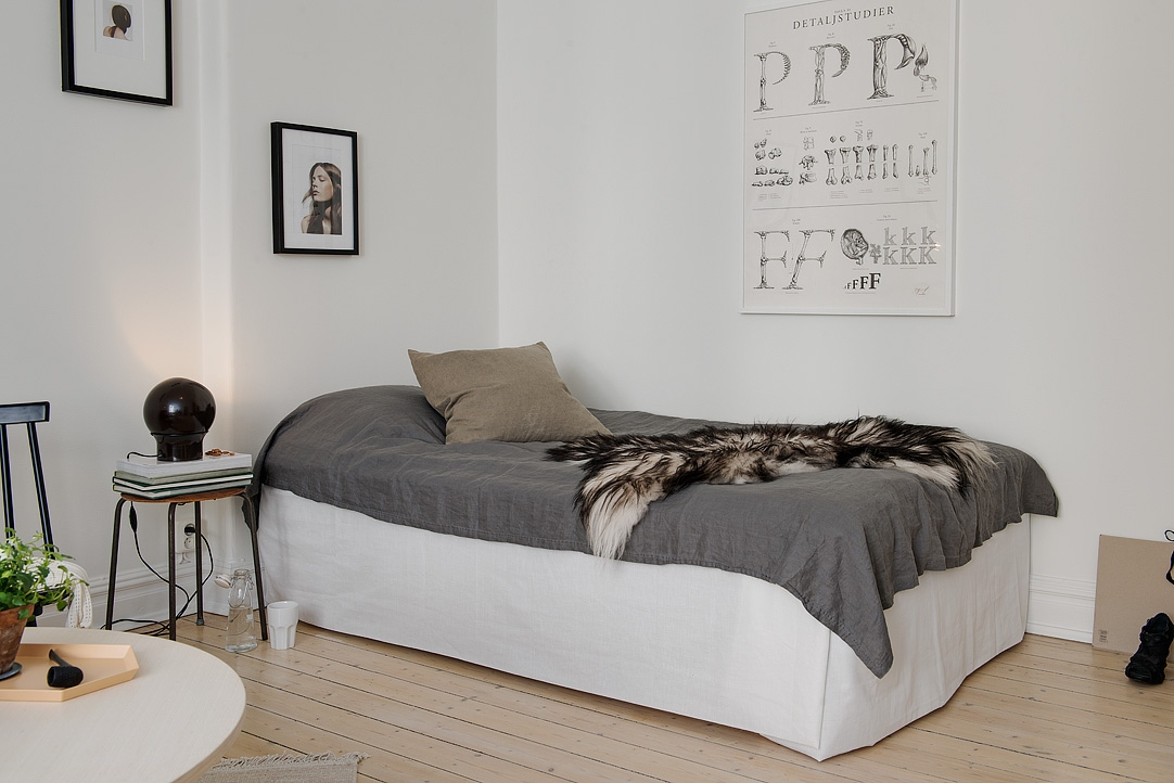 Bed / living room with dark touches - COCO LAPINE DESIGNCOCO ...