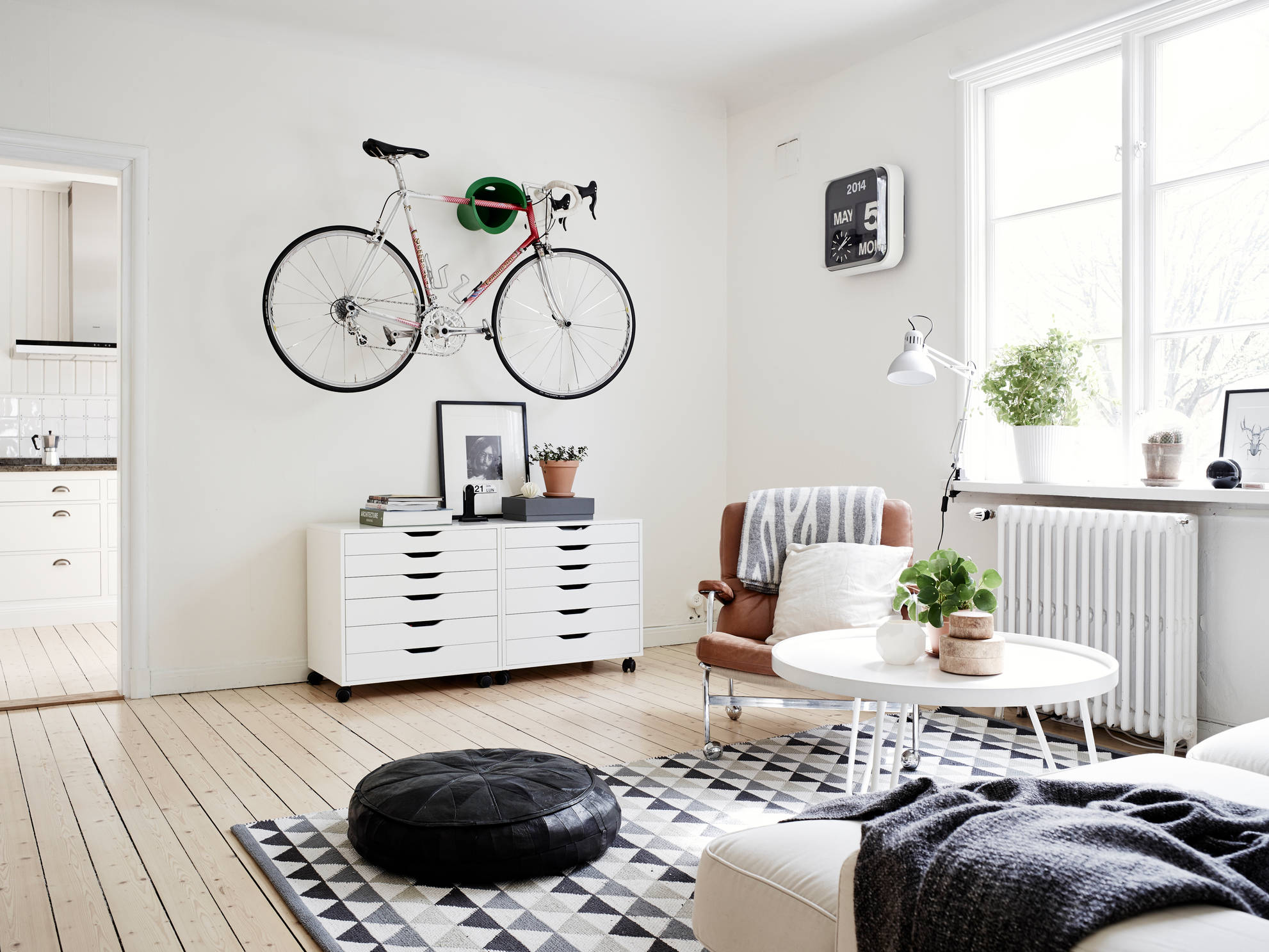 bike in the living room