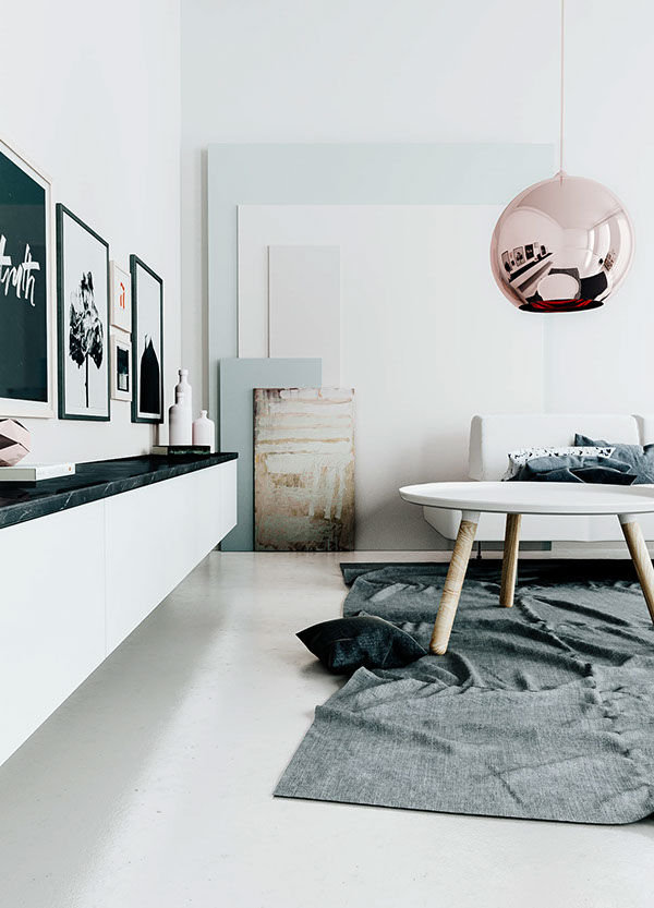 3d Living Room In The Perfect Tints Coco Lapine