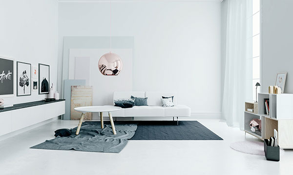 3d living room in the perfect tints coco lapine for Interieur ontwerpen 3d