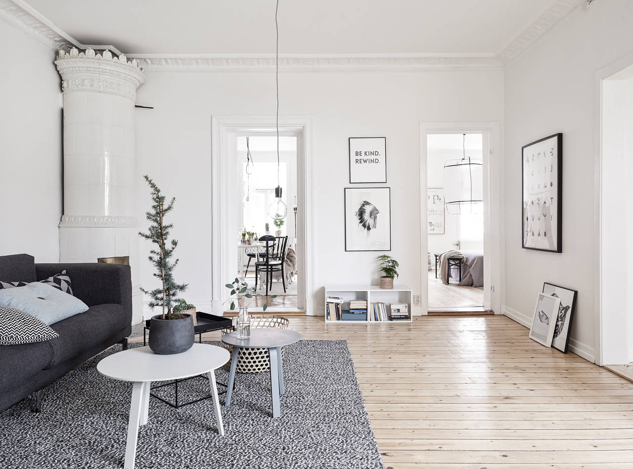 Home with soft colors and a hint of christmas coco for Interieur huiskamer