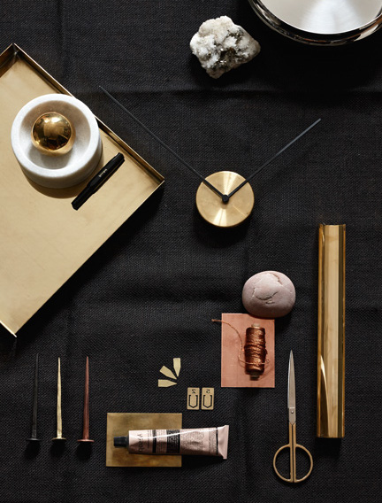 Brass and copper styling - via cocolapinedesign.com