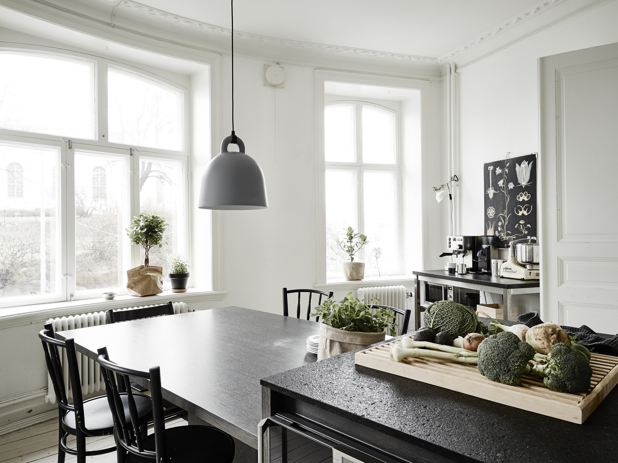 Smalle Keukeneiland: Small apartment with a big kitchen island ...