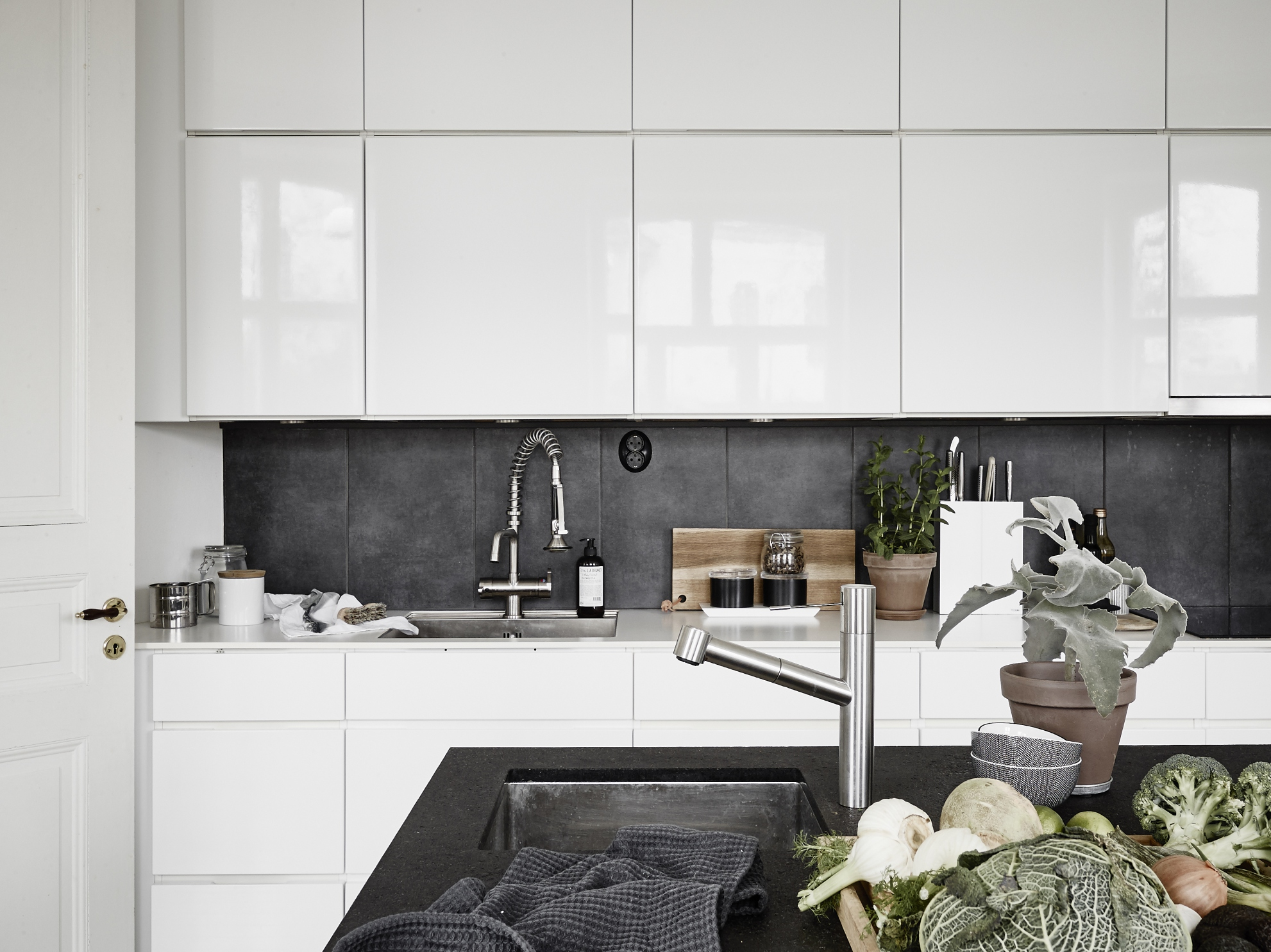 Small Apartment Kitchen Small Apartment With A Big Kitchen Island Coco Lapine Designcoco