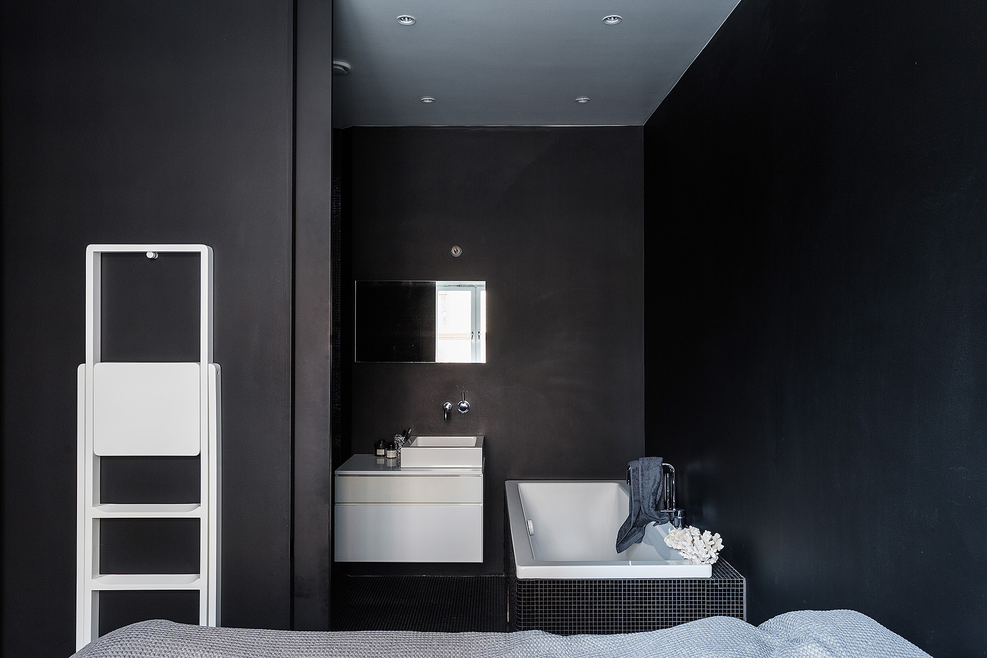 dark walls and a statement bathroom coco lapine