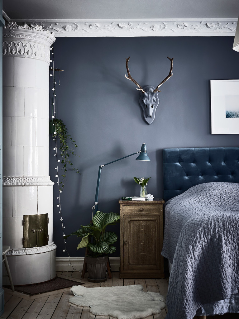 Blue Bedroom And Workspace Combo