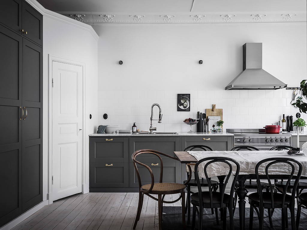 Grey Kitchen With Large Dining Area Coco Lapine