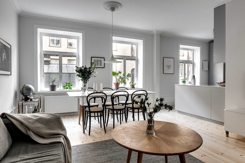 Great kitchen and living area coco lapine designcoco for Great kitchen ideas for small spaces