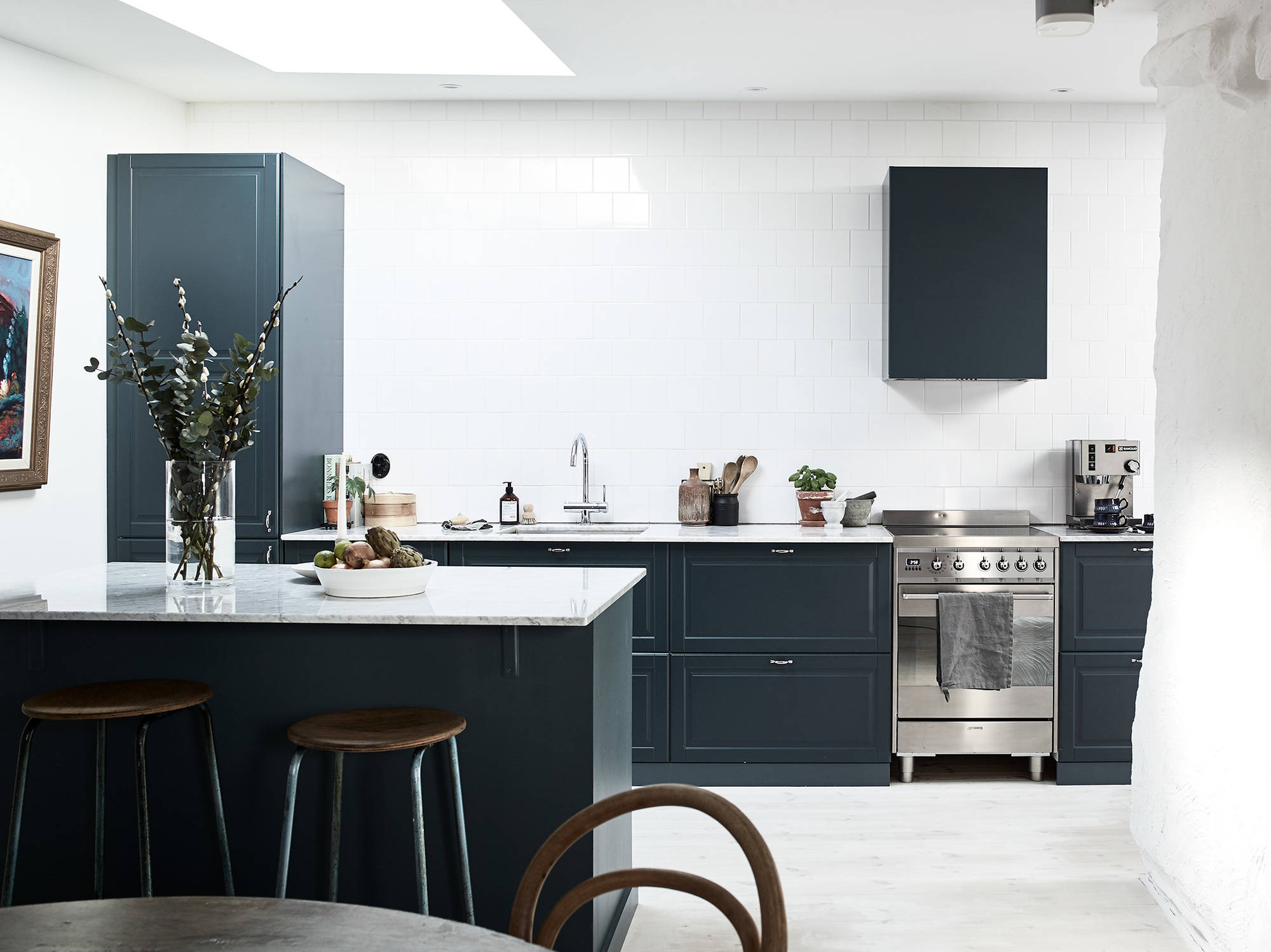 fascinating blue kitchen cabinets | Petrol blue kitchen - COCO LAPINE DESIGNCOCO LAPINE DESIGN