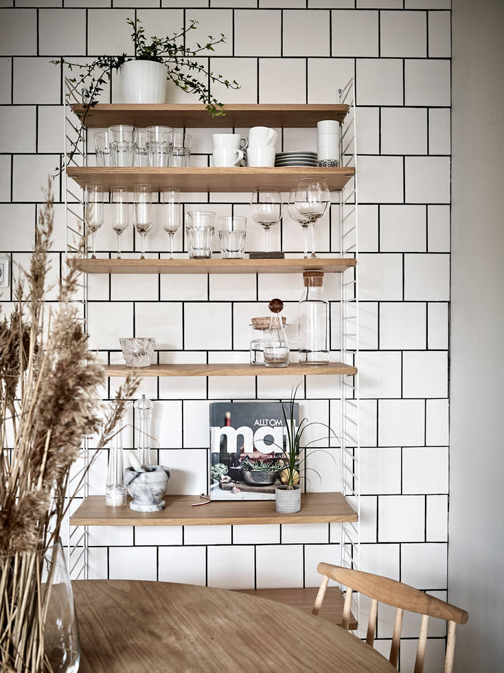 Cozy Kitchen With An Exposed Brick Wall Coco Lapine
