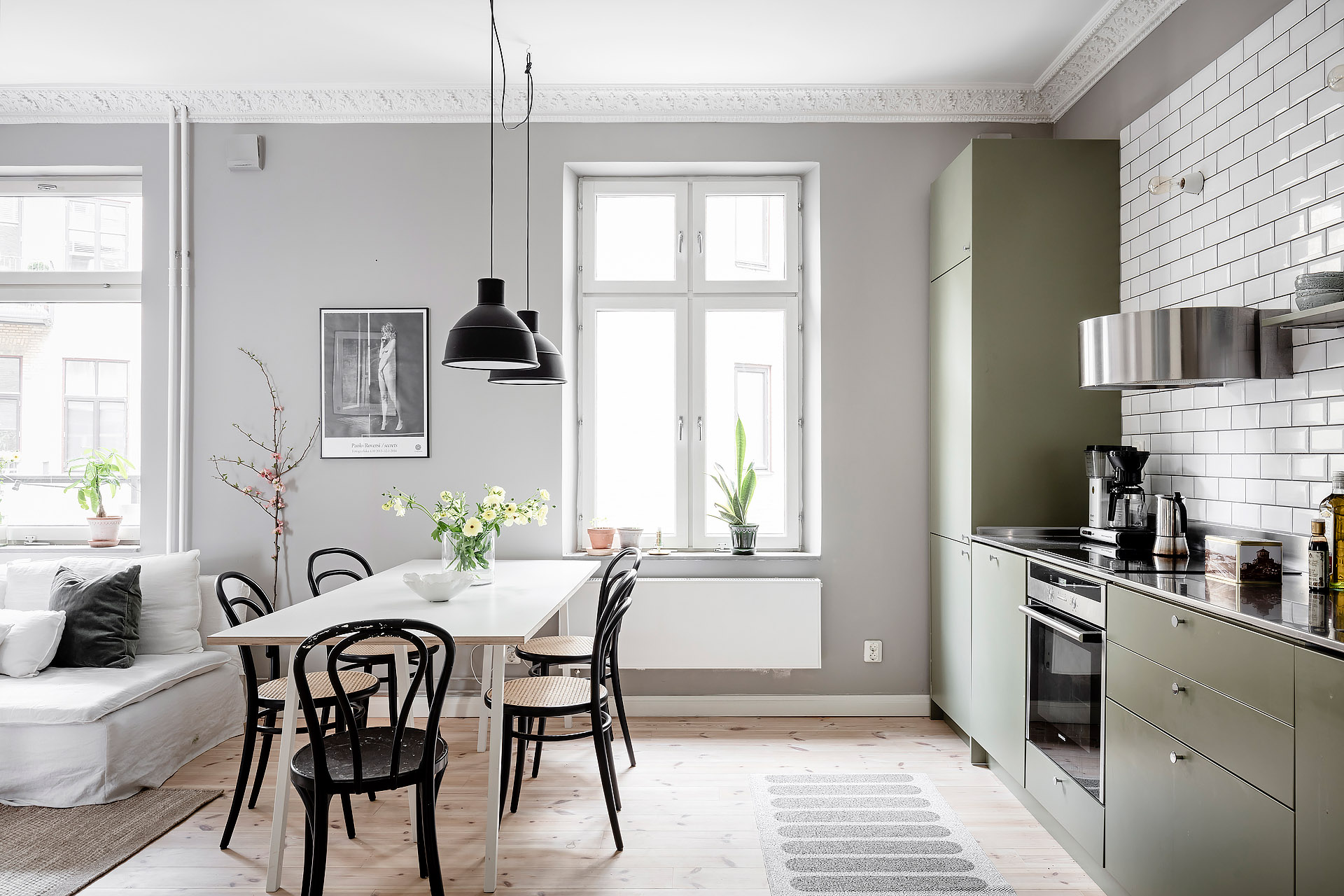 Gorgeous Grey Home With An Olive Kitchen Coco Lapine Designcoco