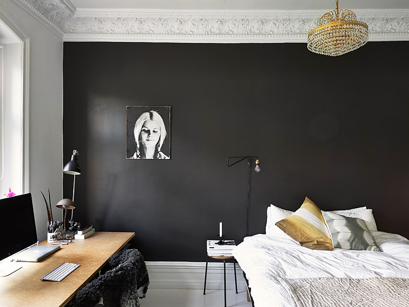 black painted bedroom black bedroom wall coco lapine designcoco lapine design 10867