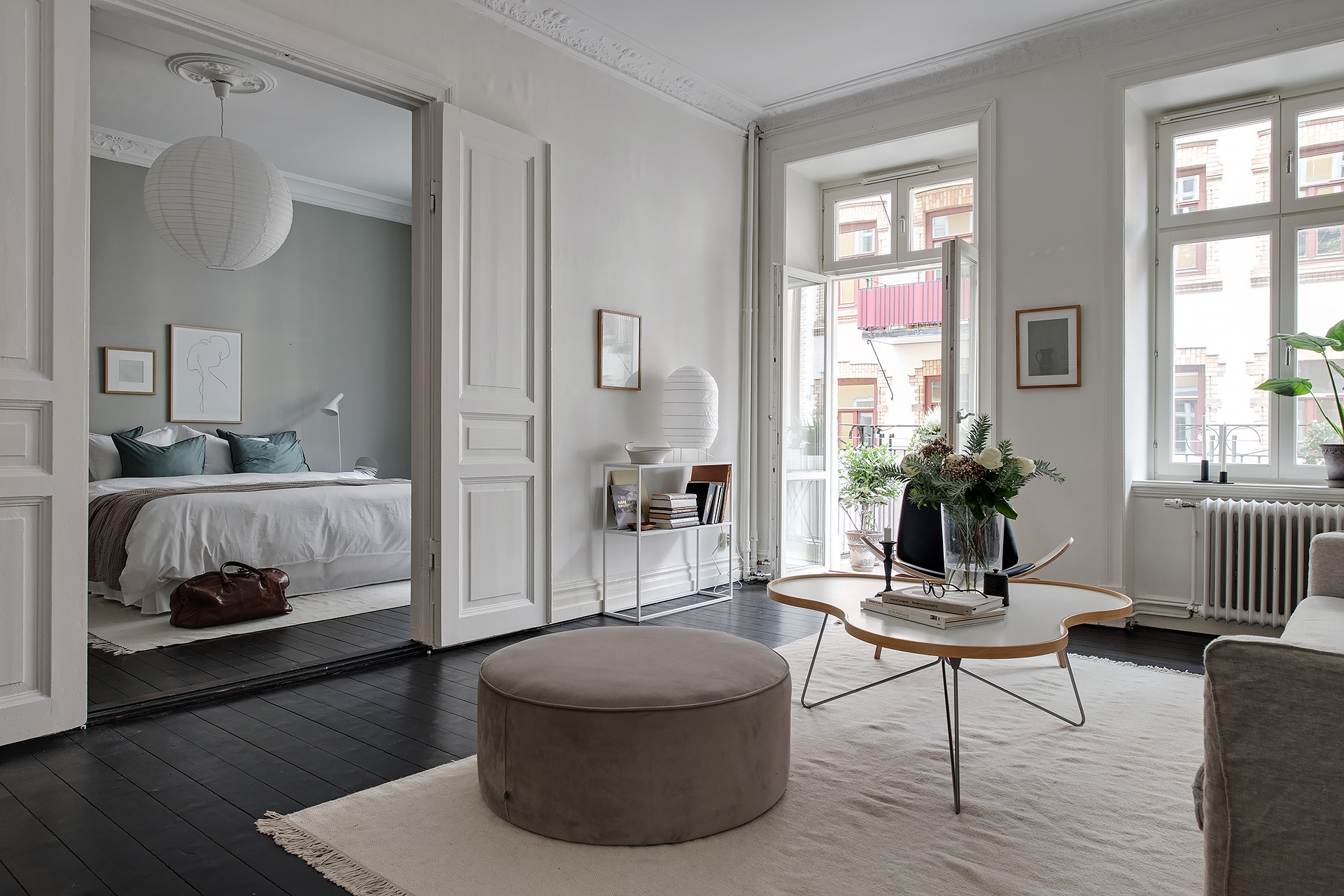 Minimal Home With A Grey Bedroom